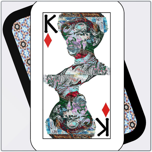 Play Your Hand...King Diamond No. 2 Metal Print