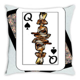 Play Your Hand...Queen Spade No. 4 Throw Pillow