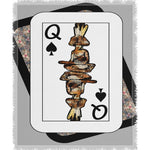 Load image into Gallery viewer, Play Your Hand...Queen Spade No. 4 Woven Blanket