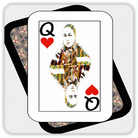 Play Your Hand...Queen Heart No. 4  Coaster Set