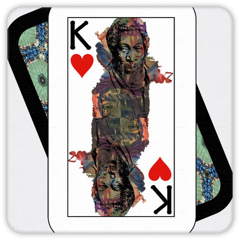 Play Your Hand...King Heart No. 1 Coaster Set