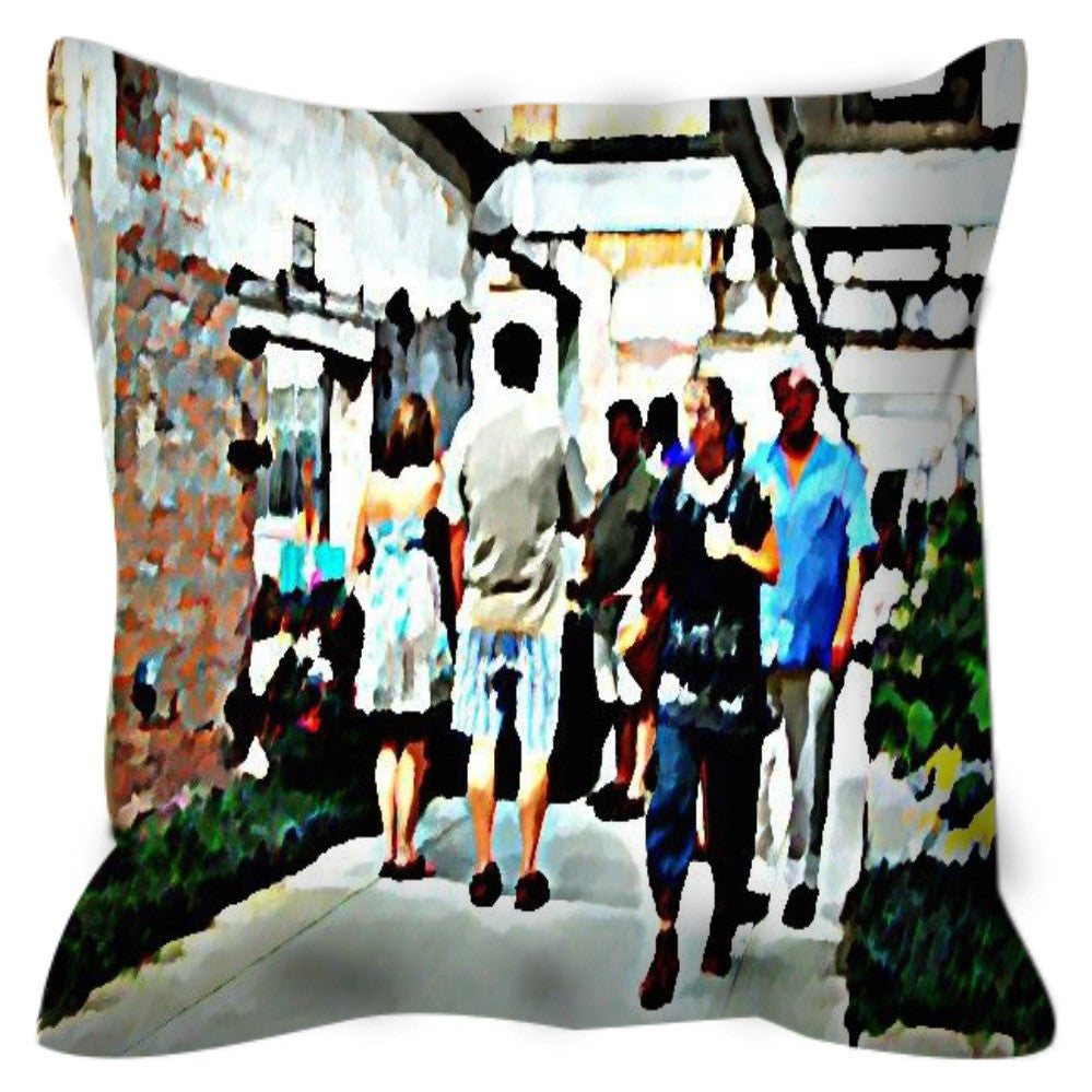 Street Scene No. 3 Throw Pillow