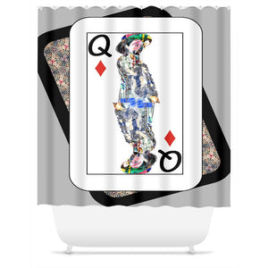Play Your Hand...Queen Diamond No. 4 Shower Curtain