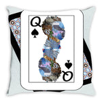 Load image into Gallery viewer, Play Your Hand...Queen Spade No. 2 Throw Pillow