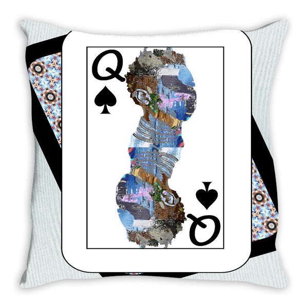Play Your Hand...Queen Spade No. 2 Throw Pillow