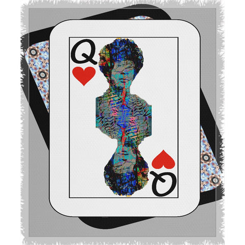 Play Your Hand...Queen Heart No. 2 Woven Blanket