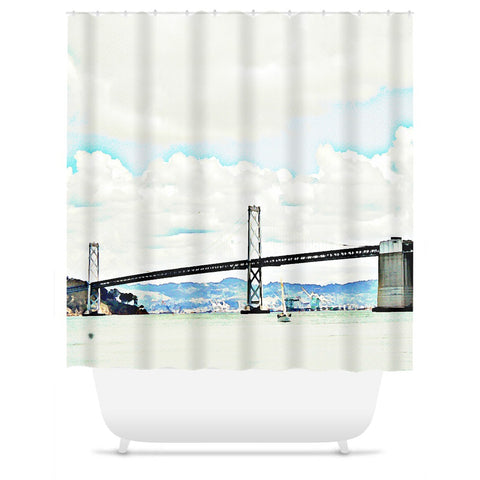 The Bridge Shower Curtain