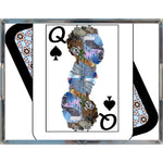 Load image into Gallery viewer, Play Your Hand...Queen Spade No. 2 Acrylic Tray