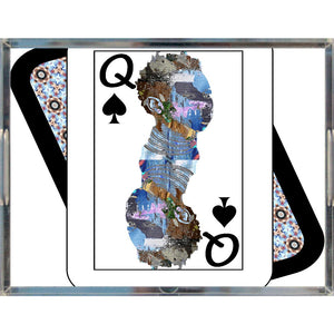 Play Your Hand...Queen Spade No. 2 Acrylic Tray
