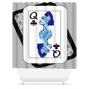 Play Your Hand...Queen Club No. 2 Shower Curtain