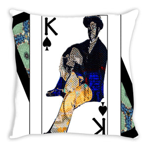 Play Your Hand...King Spade No. 1 Throw Pillow