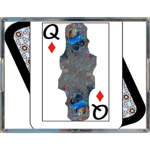Play Your Hand...Queen Diamond No. 2 Acrylic Tray