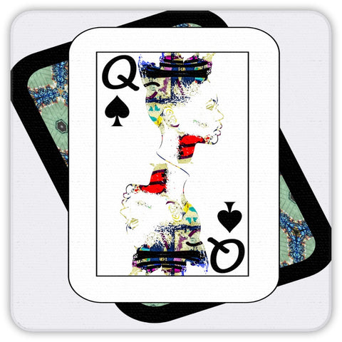 Play Your Hand...Queen Spade No. 1 Coaster Set