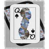 Play Your Hand...Queen Spade No. 2 Woven Blanket