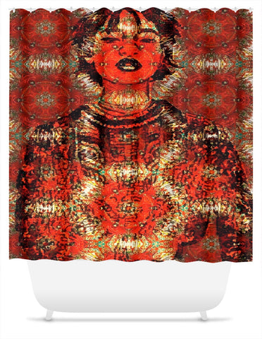 Queen Things Shower Curtain