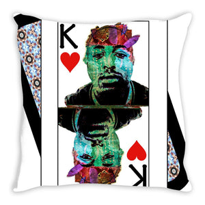 Play Your Hand...King Heart No. 2 Throw Pillow
