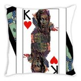 Play Your Hand...King Heart No. 1 Throw Pillow