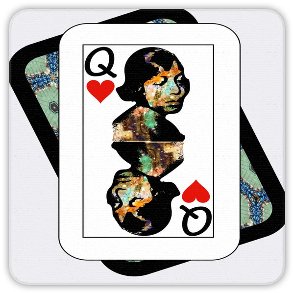 Play Your Hand...Queen Heart No. 1 Coaster Set