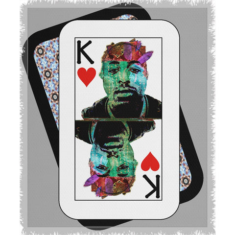 Play Your Hand...King Heart No. 2 Woven Blanket
