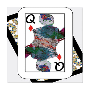 Play Your Hand...Queen Diamond No. 3 Wrapped Canvas