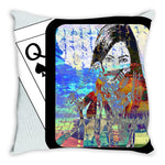 Load image into Gallery viewer, Play Your Hand...Watch Your Back No. 4 Throw Pillow
