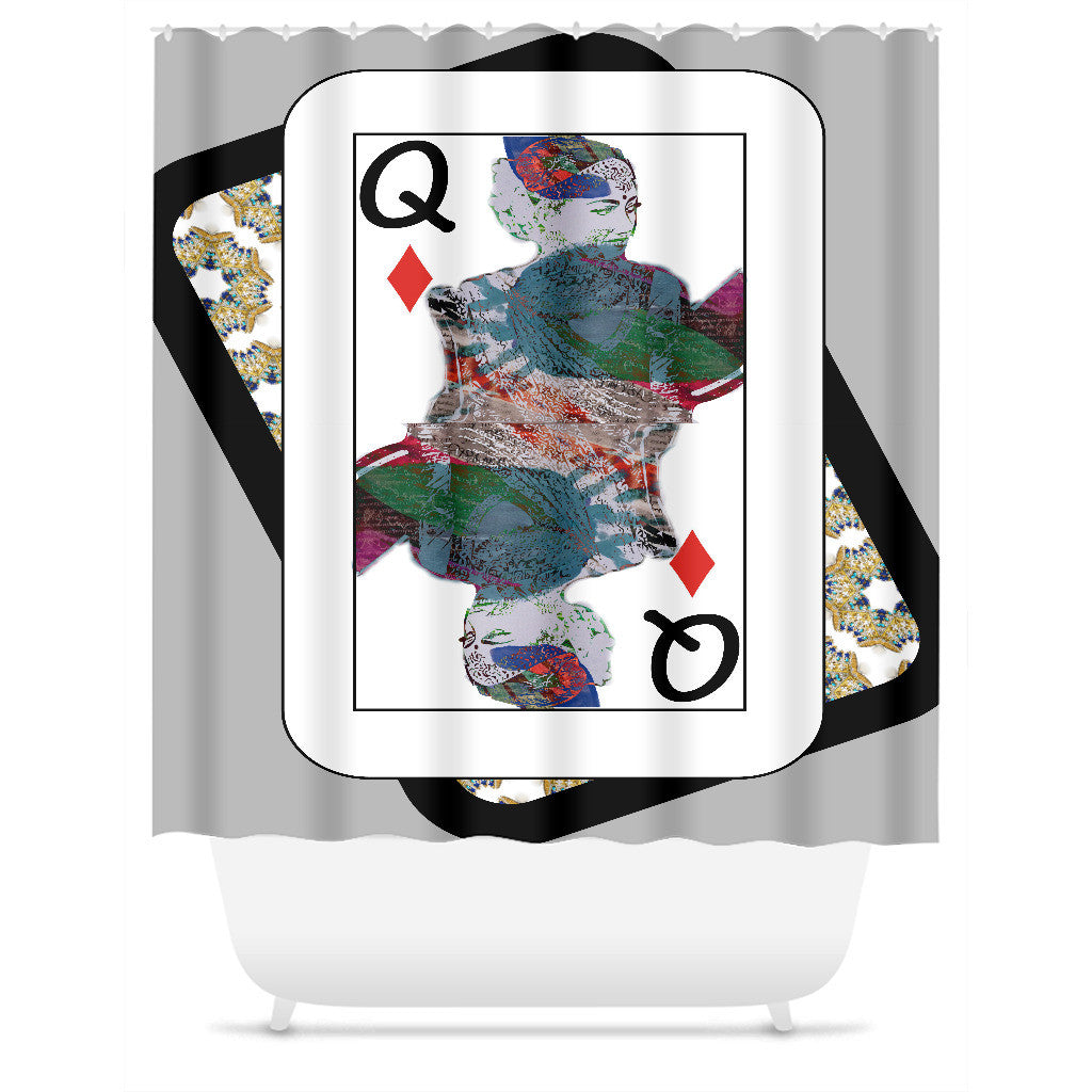 Play Your Hand...Queen Diamond No. 3 Shower Curtain