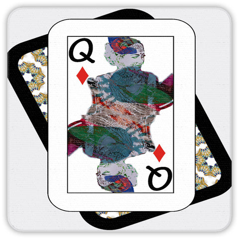 Play Your Hand...Queen Diamond No. 3 Coaster Set