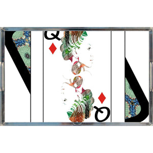 Play Your Hand...Queen Diamond No. 1 Acrylic Tray