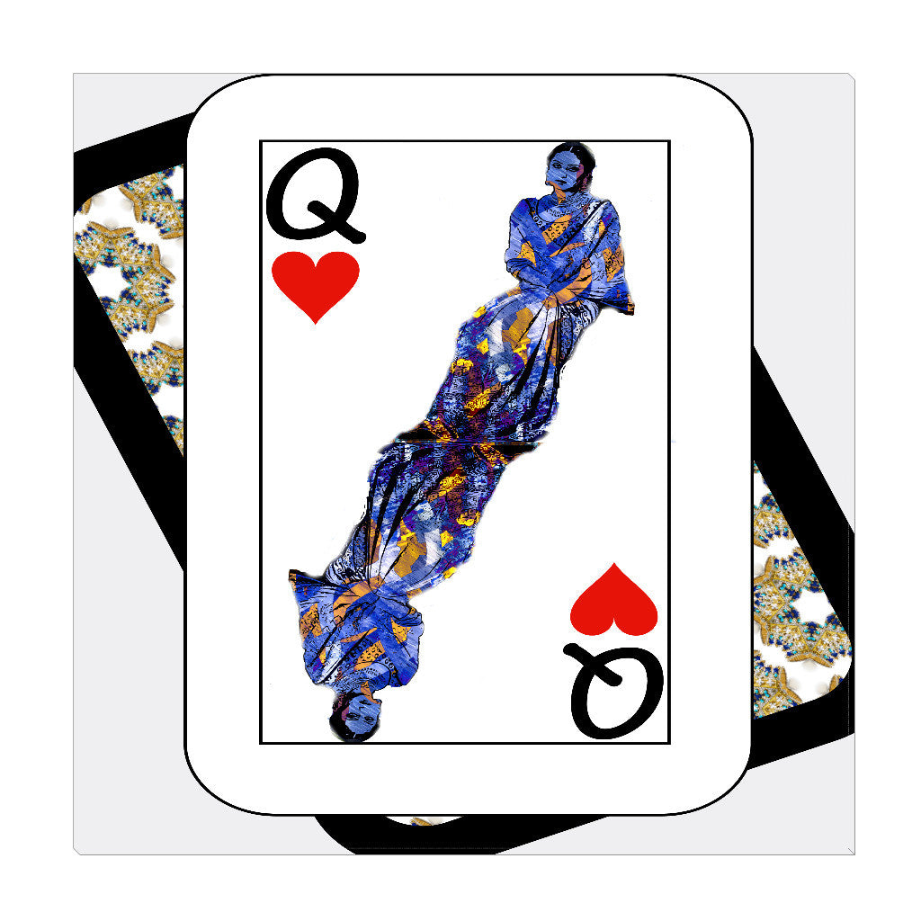 Play Your Hand...Queen Heart No. 3 Wrapped Canvas