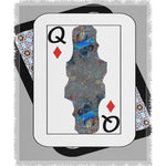 Load image into Gallery viewer, Play Your Hand...Queen Diamond No. 2 Woven Blanket