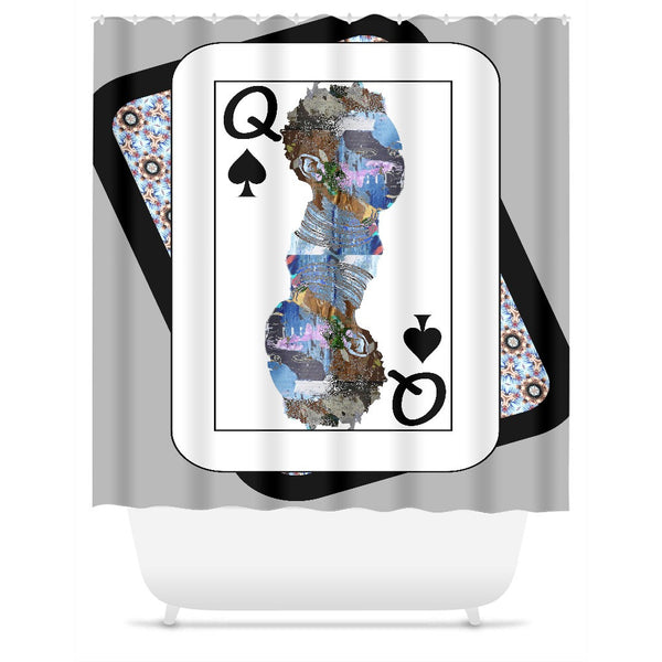 Play Your Hand...Queen Spade No. 2 Shower Curtain