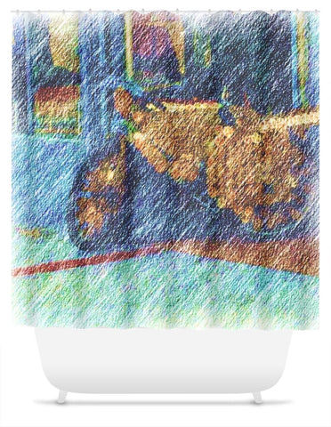 Street Scene West End Shower Curtain