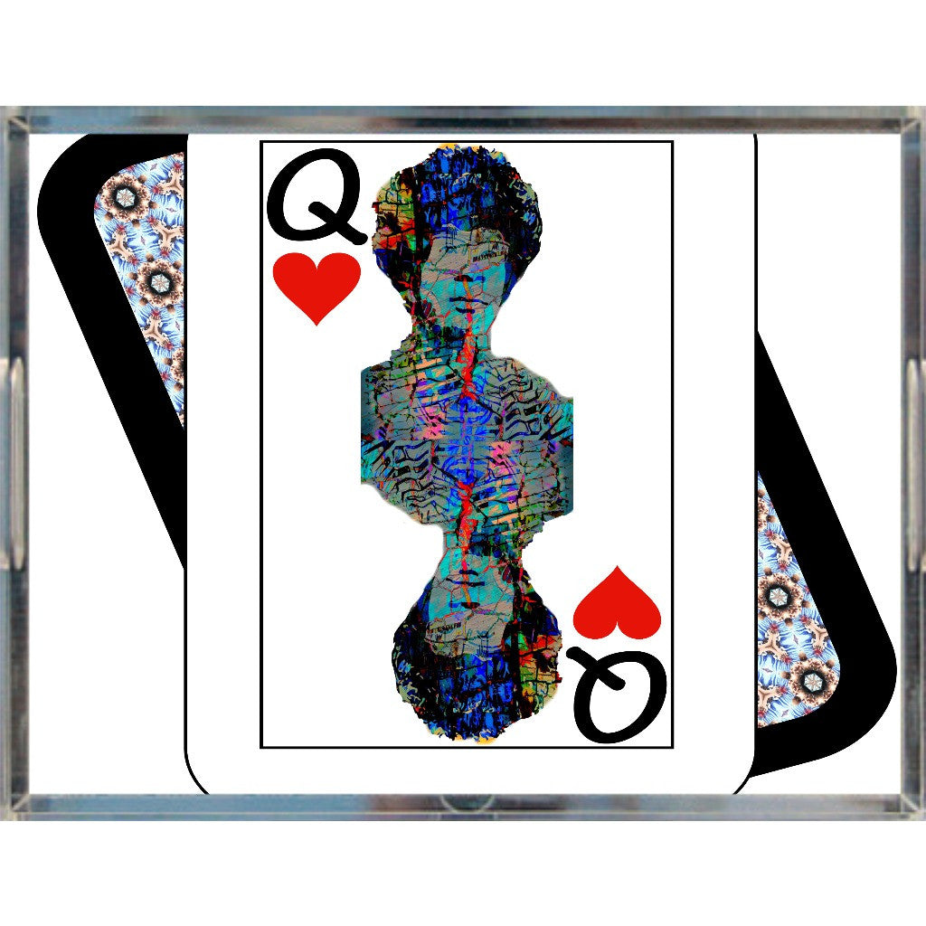 Play Your Hand...Queen Heart No. 2 Acrylic Tray