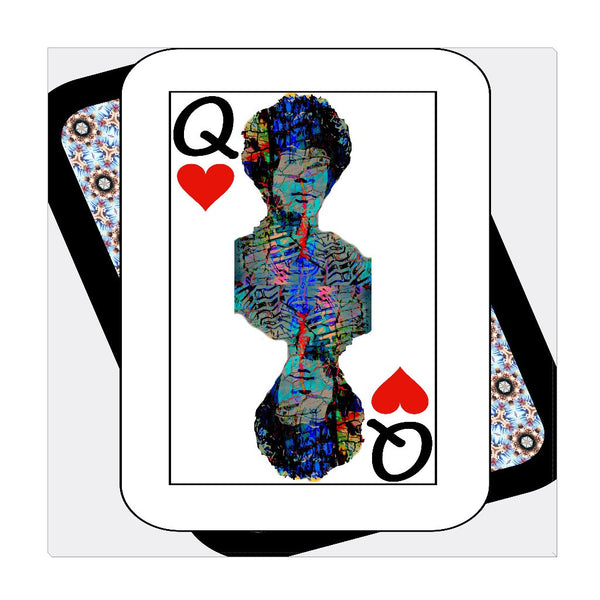 Play Your Hand...Queen Heart No. 2 Wrapped Canvas