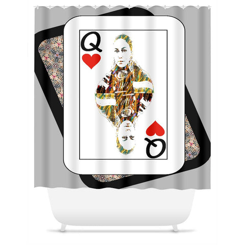 Play Your Hand...Queen Heart No. 4 Shower Curtain