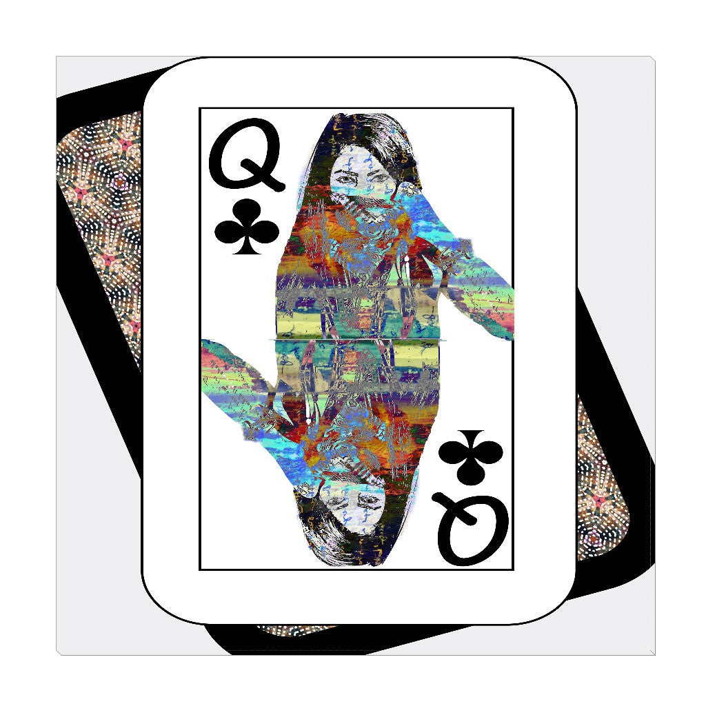 Play Your Hand...Queen Club No. 4 Wrapped Canvas