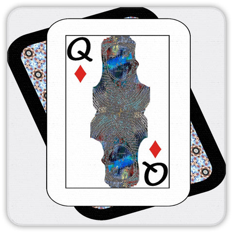 Play Your Hand...Queen Diamond No. 2 Coaster Set