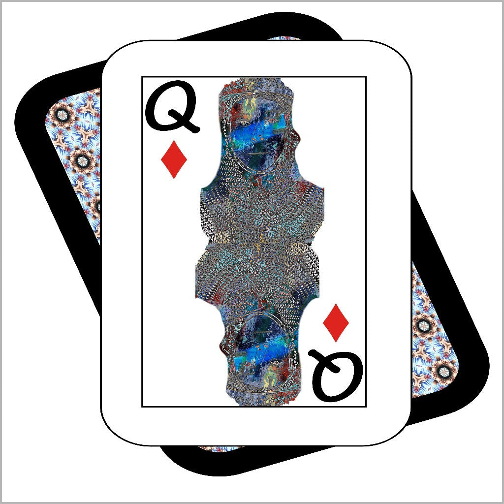 Play Your Hand...Queen Diamond No. 2 Canvas Poster