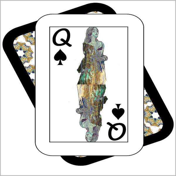Play Your Hand...Queen Spade No. 3 Canvas Poster