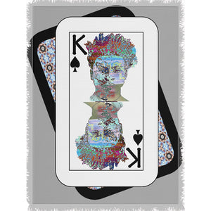 Play Your Hand...King Spade No. 2 Woven Blanket