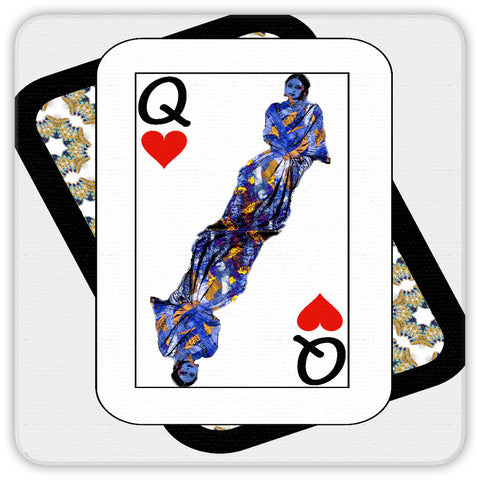 Play Your Hand...Queen Heart No. 3 Coaster Set