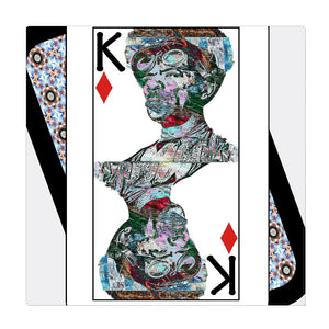 Play Your Hand...King Diamond No. 2 Wrapped Canvas