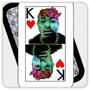 Play Your Hand...King Heart No. 2 Coaster Set