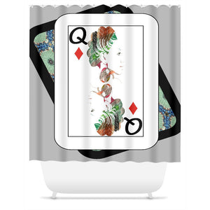 Play Your Hand...Queen Diamond No. 1 Shower Curtain