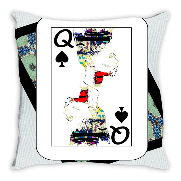 Play Your Hand...Queen Spade No. 1 Throw Pillow