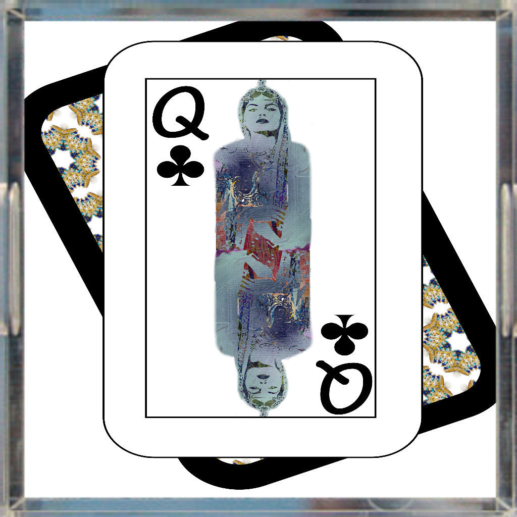 Play Your Hand...Queen Club No. 3 Acrylic Tray