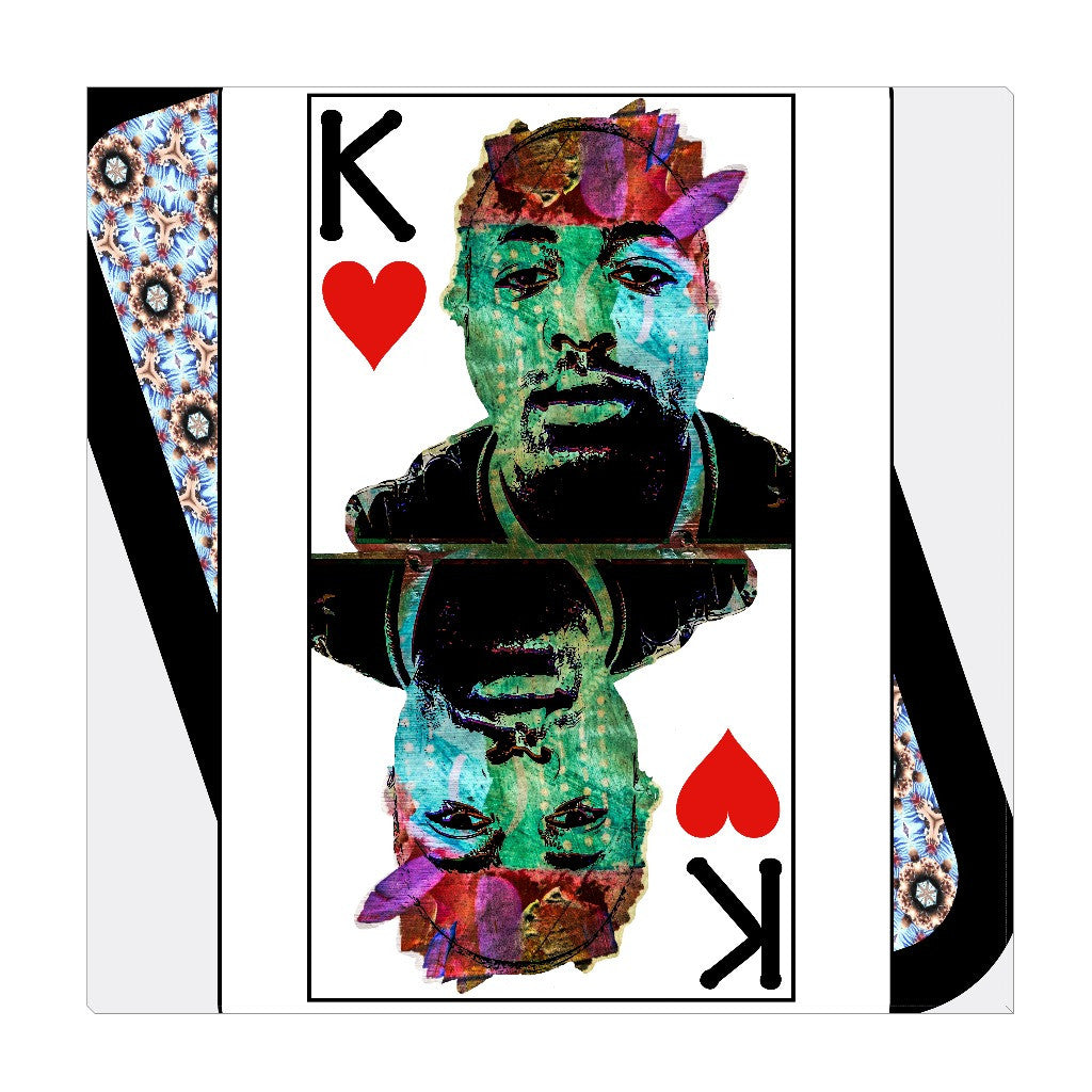 Play Your Hand...King Heart No. 2 Wrapped Canvas