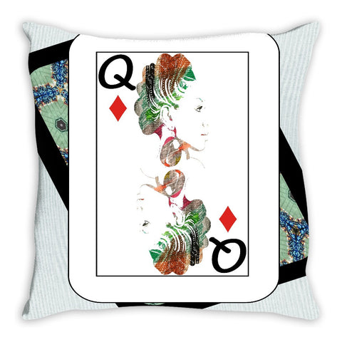 Play Your Hand...Queen Diamond No. 1 Throw Pillow