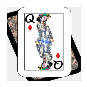 Play Your Hand...Queen Diamond No. 4 Wrapped Canvas