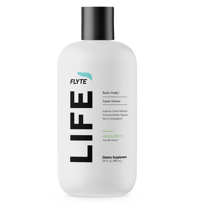 LIFE liquid greens product bottle